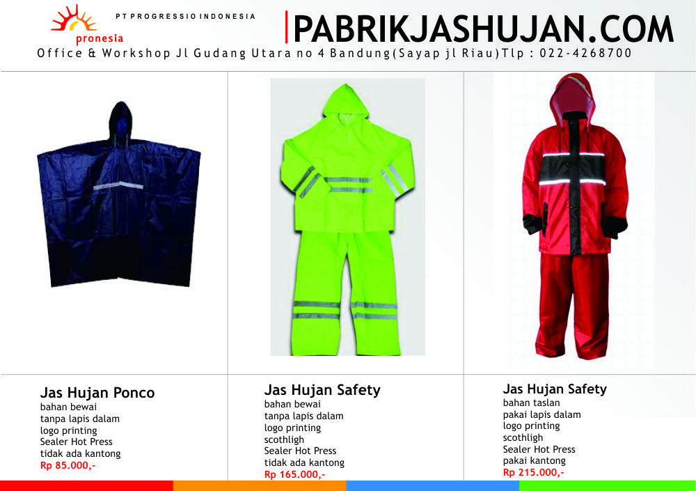 harga jas hujan safety